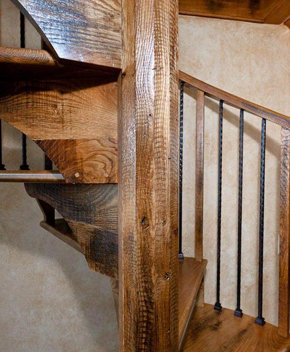 Rustic Stairway Project | Heartland Stairways