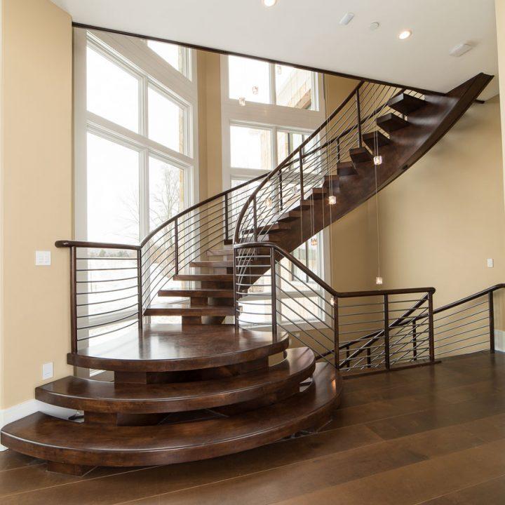 Von Tobel Main Stairway Project | Heartland Stairways